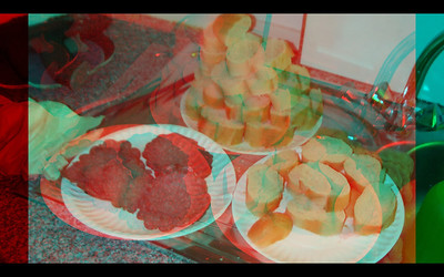 Food Anaglyph Photographs
