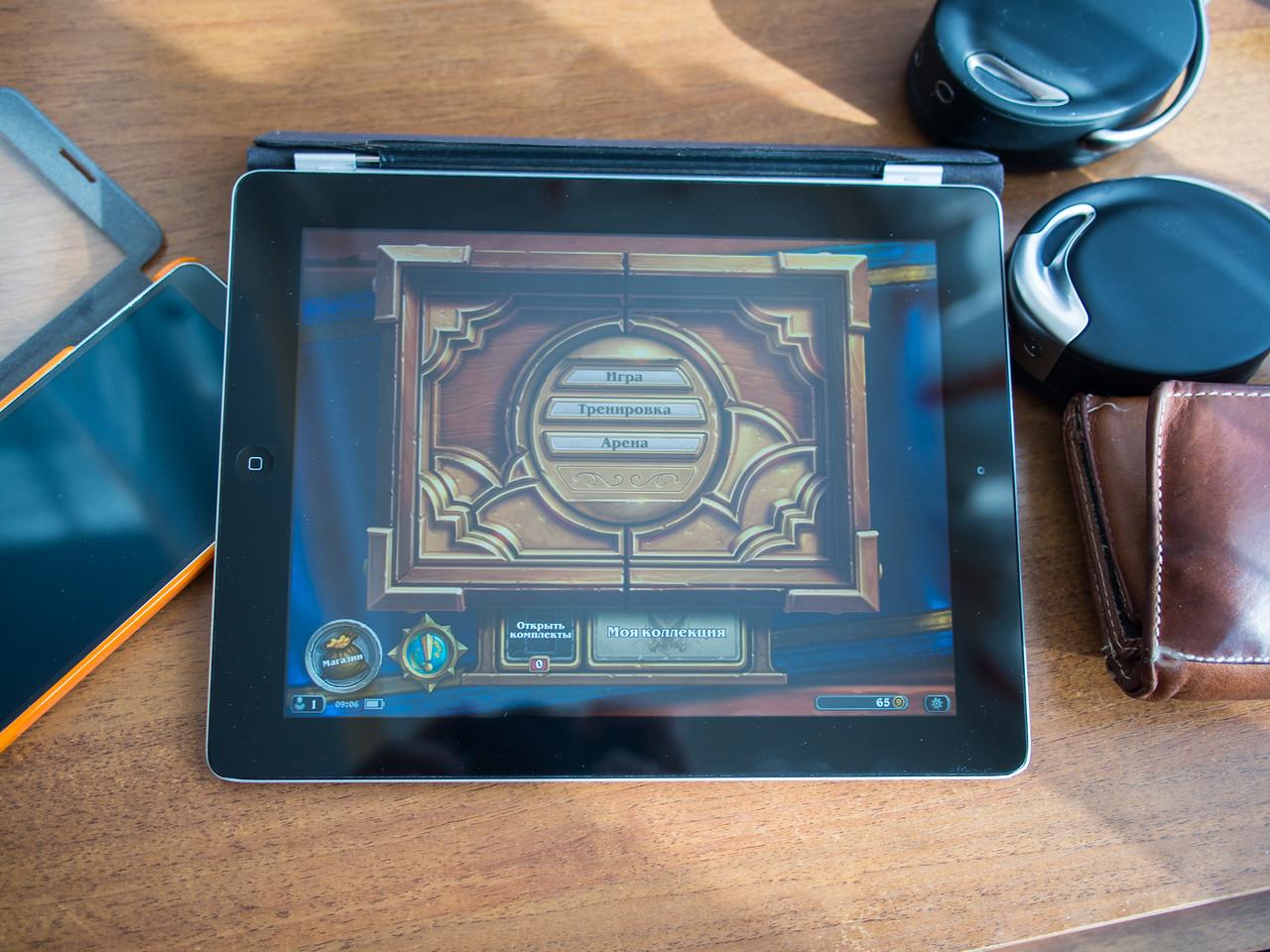 Hearthstone on iPad 4