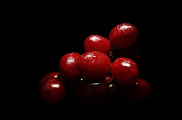 crimsoned grapes