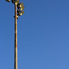 Old Tall Outdoor Spot Light Pole