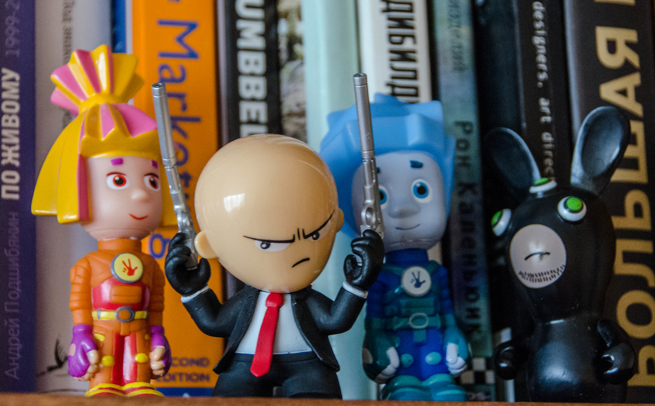 Hitman toy in a good company