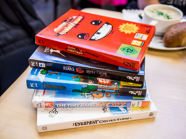 Indie games in boxes