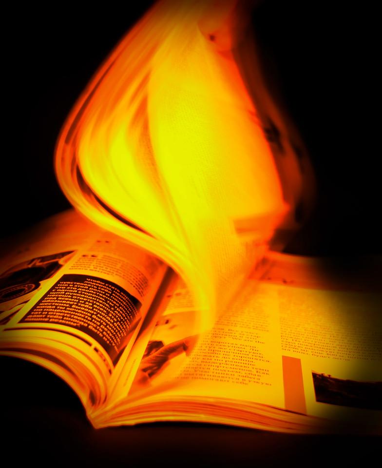 Burning magazine