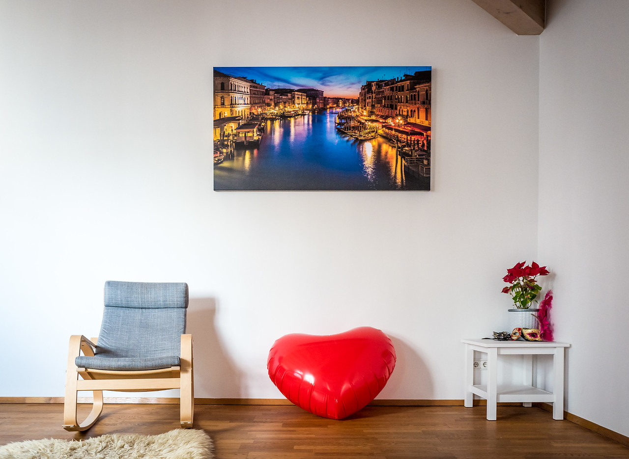 My photos on the walls