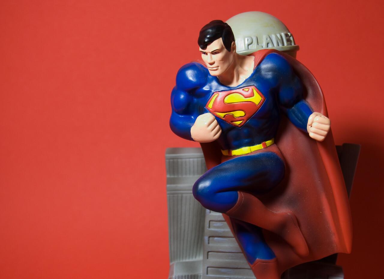 Superman toy (warm version)