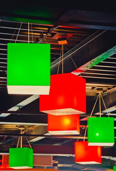 Lamps in restaraunt