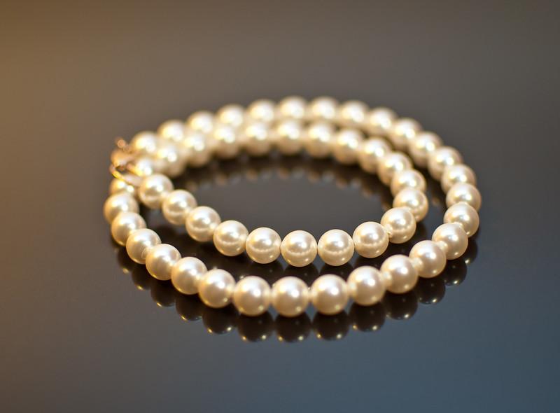 Pearls on black ice