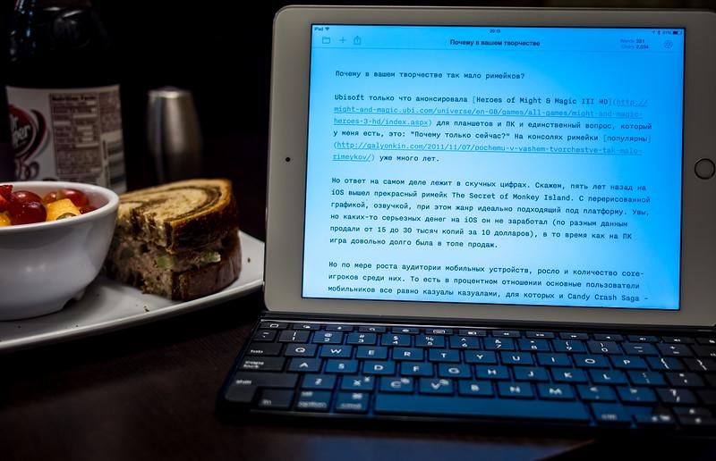 Logitech Ultrathin keyboard for iPad Air 2