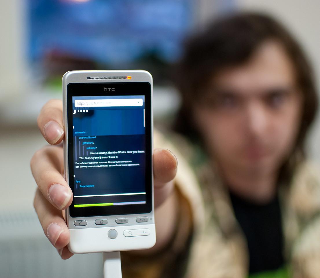 Vsevolod Polyakov with HTC Hero