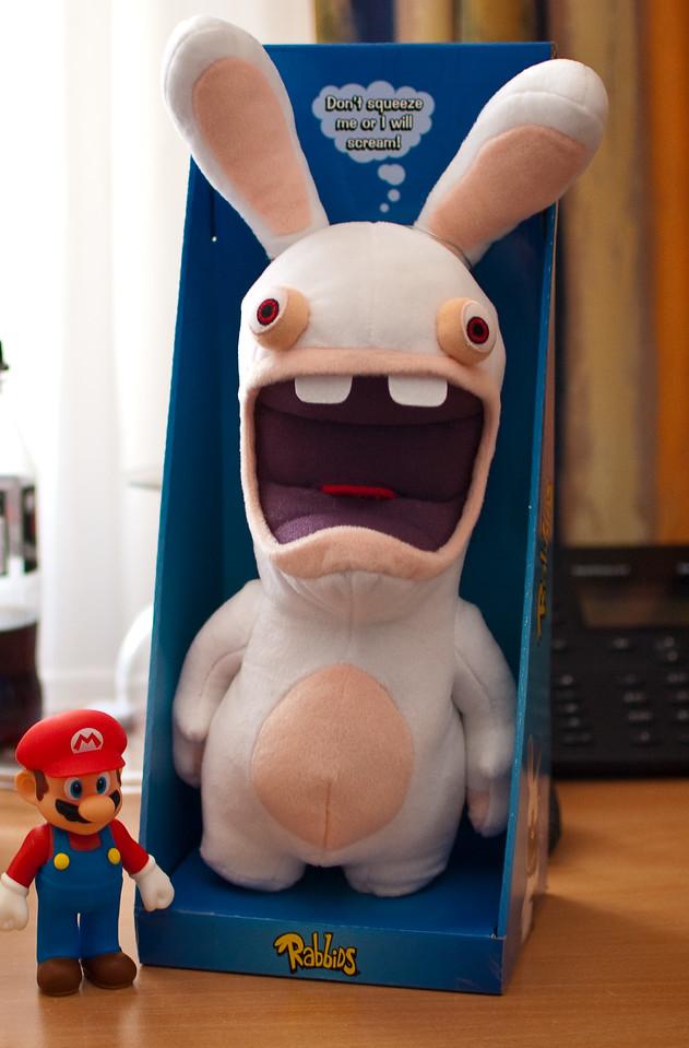 Rayman Raving Rabbid plush toy