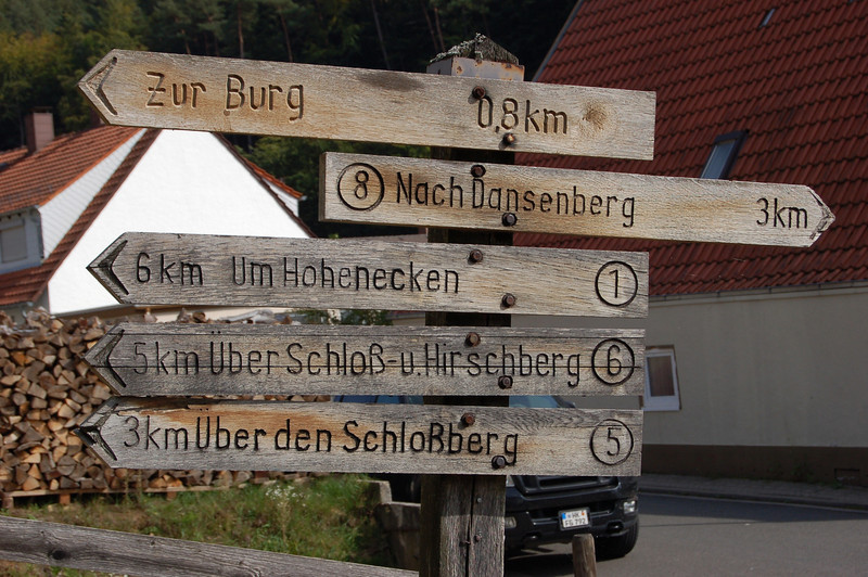 Trail Sign in Hohenecken