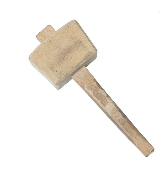 Wooden mallet, used in carpentry to knock pieces of wood together