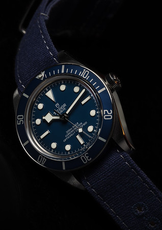 Black Bay 58 Navy Blue on the Haveston Quarterdeck canvas strap