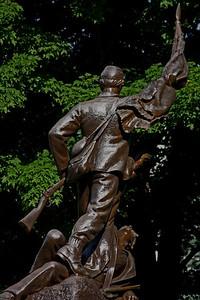 Bronze Veteran Memorial Statue