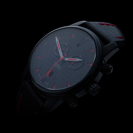black elegant wristwatch