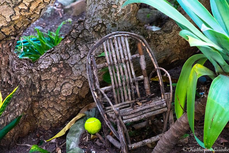 Old Cane Garden Chair