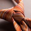 orange necktie knot