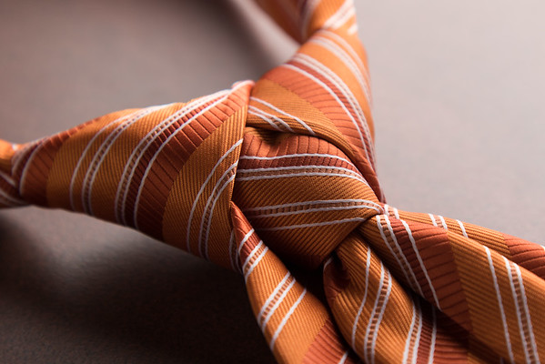 orange necktie knot