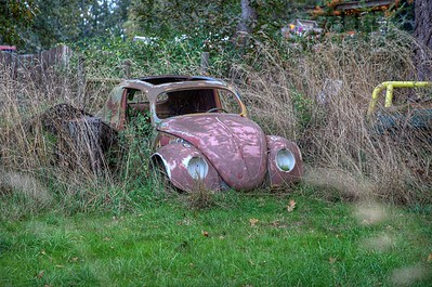 "Rusty Car - Metchosin, Vancouver Island, BC, Canada Visit our blog ""Headlights In The Field"" for the story behind the photo."