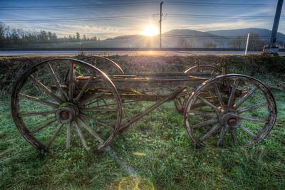 Antique Wood Wagon - Cowichan Valley, Vancouver Island, British Columbia, Canada