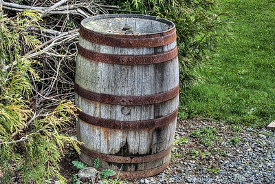 "Wood Barrel - Victoria BC Canada Please visit our blog ""A Barrel Of Rum And A Tractor"" for the story behind this photo."