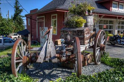 Antique Wood Wagon - Vancouver Island, BC, Canada