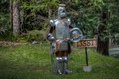 Knight Standing Guard - Vancouver Island, British Columbia, Canada