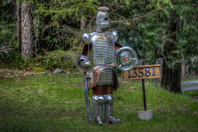 Knight Standing Guard - Vancouver Island, British Columbia, Canada