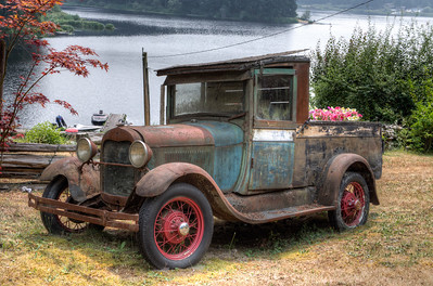 Old Car Planter - Vancouver Island, British Columbia, Canada