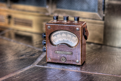 """Battery Tester - Private Collection Visit our blog """"A Private Collection"""" for the story behind the photos."""