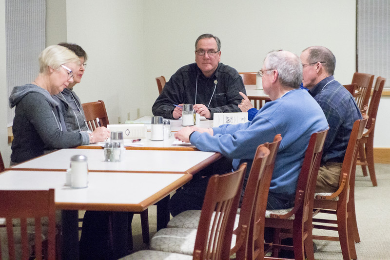 Photos of the first evening of the March 2018 Oblate Retreat. Fr. Denis Quinkert, OSB was the retreat master. Oblates participated in group discussions after the opening conference.