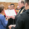 On Saturday, June 8, 2019, nine people were invested as oblate novices and five made their final oblation as Benedictine Oblates of Saint Meinrad Archabbey. Archabbot Kurt Stasiak, OSB, presided over the rites and Fr. Mateo Zamora, OSB, gave a short message about what it means to be an oblate.