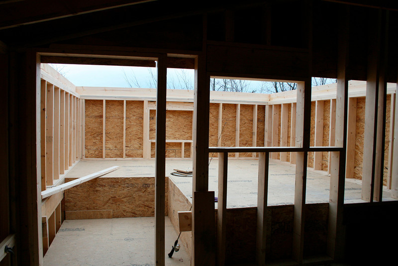 Dome Room Framing with Base of Concrete Pier Visable