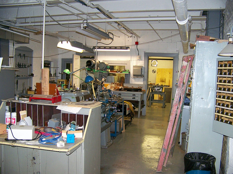 Looking from near center of the metal shop.