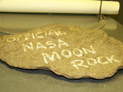 """Possibly the most """"un-offical"""" moon rock in the building."""