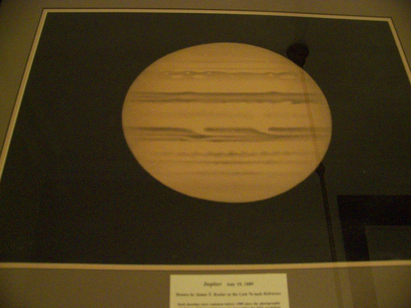 This is another Keeler sketch which at the eyepice of the 36 inch refractor at Lick Observatory. It is dated July 10, 1889 and signed J E Keeler.