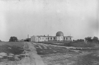 """The original """"Allegheny Observatory"""". This photograph is dated 1886. The dome contained the Fitz 13 inch Refractor."""