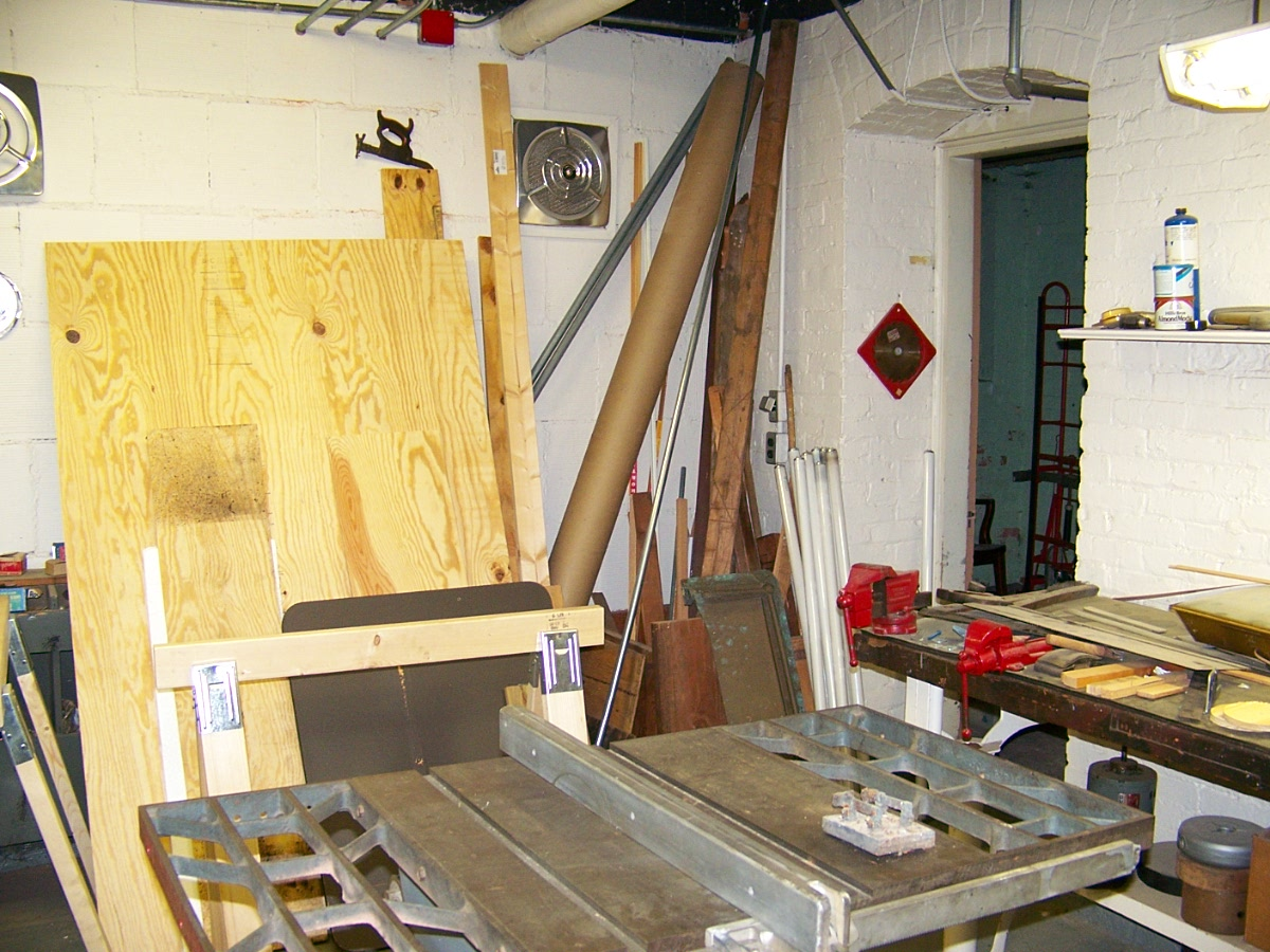 I took this image inside the adjoing wood shop.