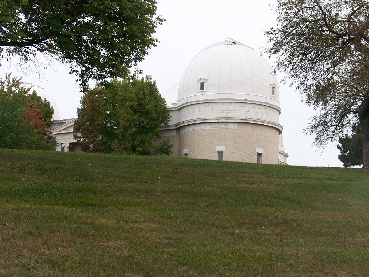 This dome at one time housed the 31 inch Brashear reflector telescope.