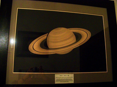 This hand drawn image & also the one on of Jupiter is of great interest to me. it is an original & was sketched by James Keeler on Jan 7, 1888 while using the 36 inch refractor at Mt Hamilton in California. Keeler of course was a Director at Allegheny Observatory, and  was the first person to discover the rings of Saturn were made from particles, and was not a solid. The sketch was made while Keeler was at Lick Observatory, and was brought to Allegheny. They have since been remounted and a more modern frame added to enhance the beauty of Keeler's artwork - Information verified by Art Glasser - Sept 2009.
