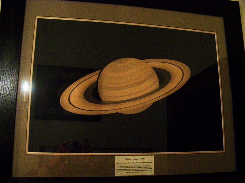 This hand drawn image & also the one on of Jupiter is of great interest to me. it is an original & was sketched by James Keeler on Jan 7, 1888 while using the 36 inch refractor at Mt Hamilton in California.