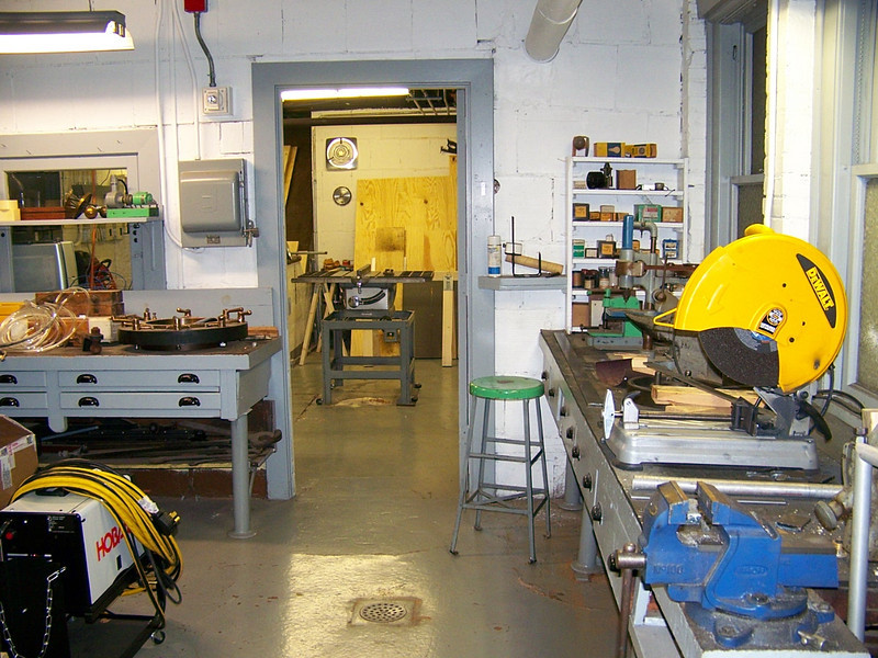 This image was taken from the metal shop looking into the wood shop.