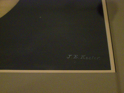 Both Keeler illustrations are signed. Here is a portion of the sketch showing his signature.