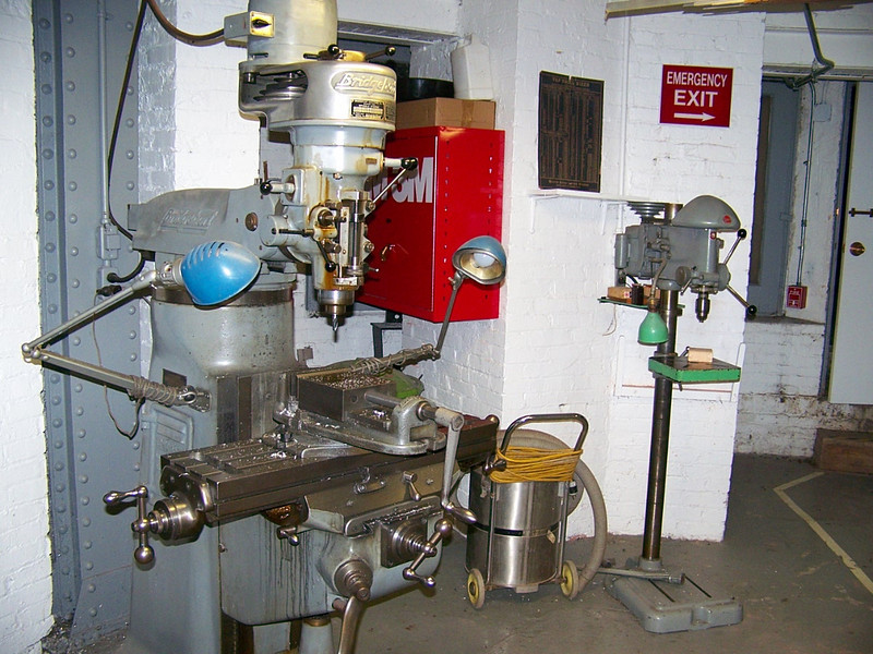 Bridgeport Milling machine and Delta Drill Press (back ground)