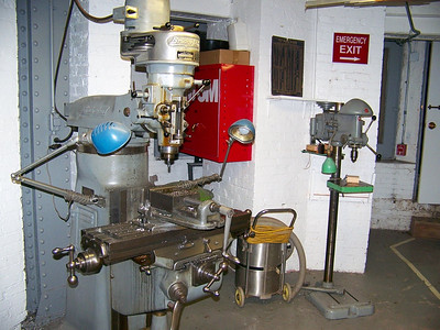 Bridgeport Milling machine and Delta Drill Press (back ground)
