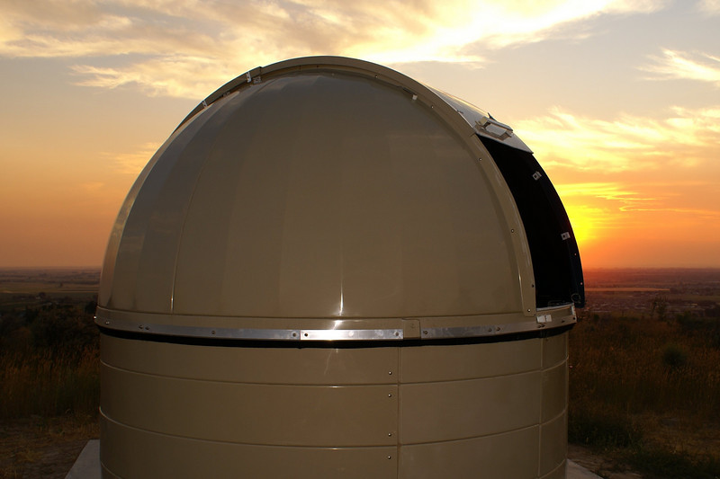 Eagle Rock Observatory at sunset