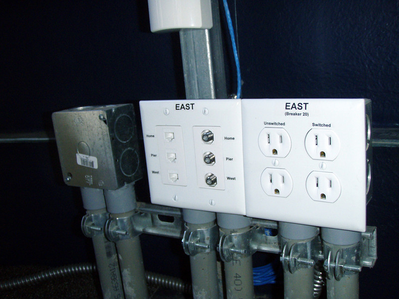 The East workstation outlets