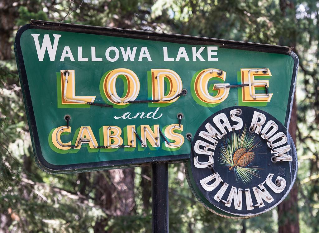 1. Vintage sign at Wallowa Lake Lodge