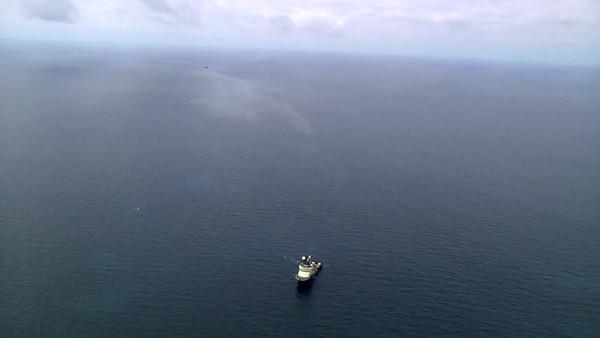 Vídeo imágenes aéreas zona hundimiento