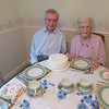 M&D with their special cake just before a wonderful tea.